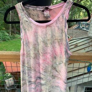 Hard Tail Tie Dye Velvet Chenille Tank